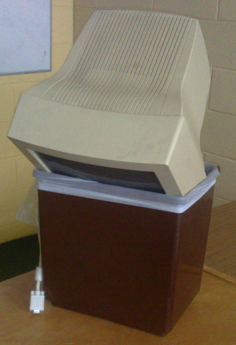 Computer in Trash Can