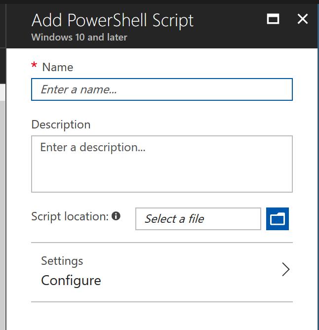 PowerShell Scripts Window